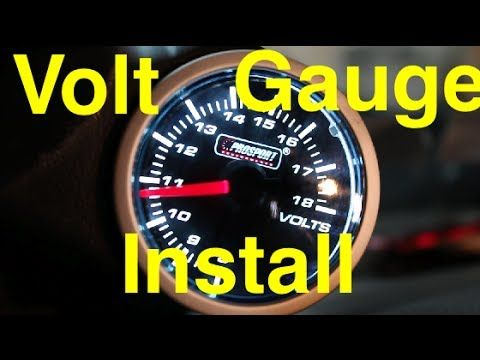Sensational Volt Gauge Install Prosport Performance Series Volt Gauge 1Jz Wiring 101 Orsalhahutechinfo