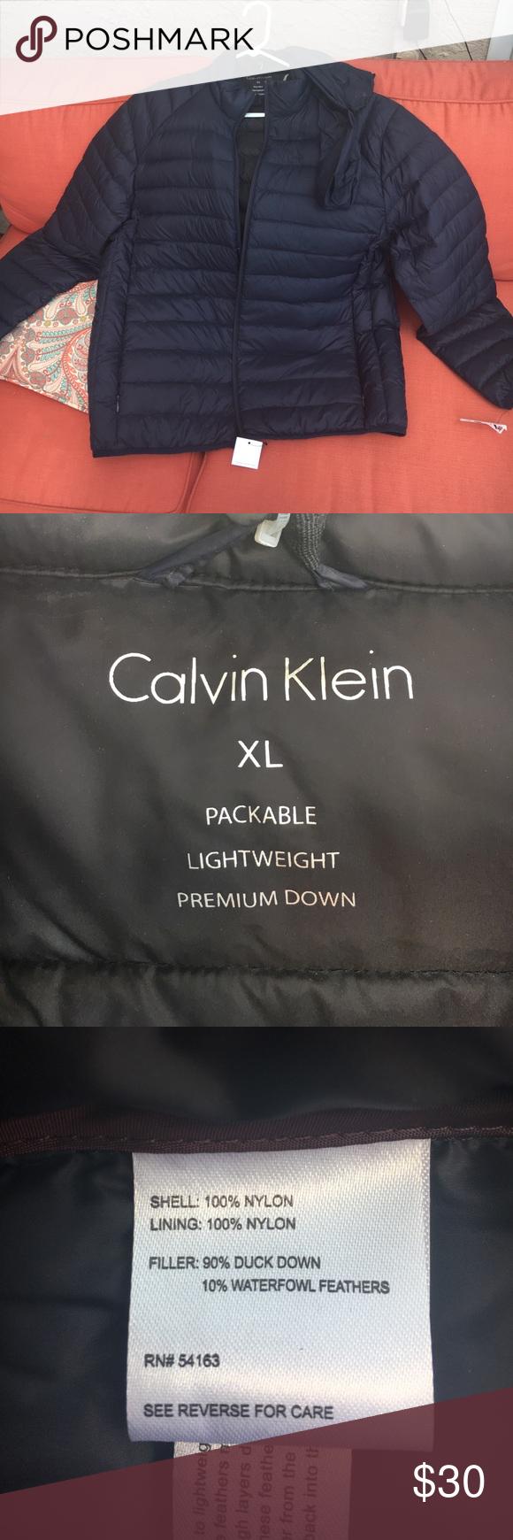 Down Jacket 7 Degrees Warmth Factor New Jackets Down Jacket Calvin Klein Men [ 1740 x 580 Pixel ]