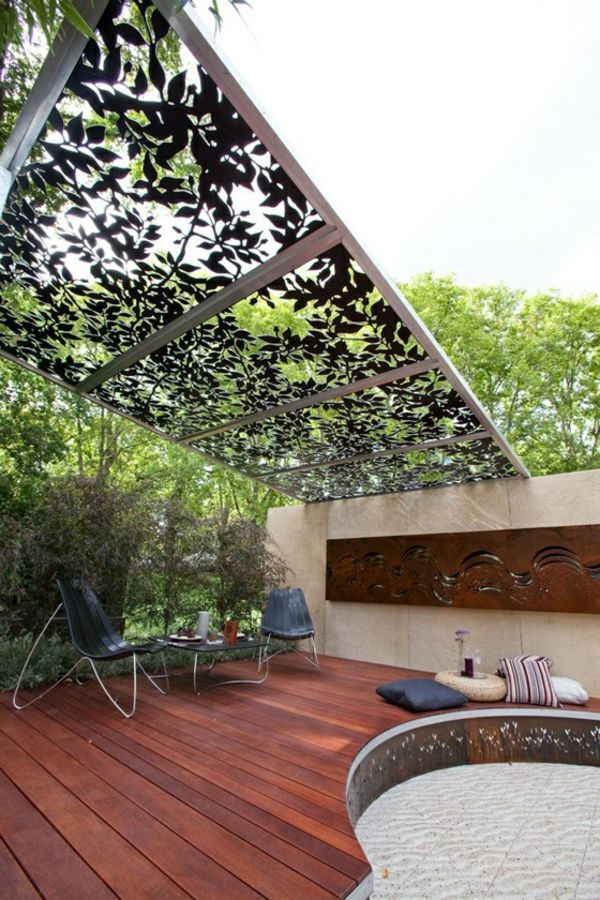 pergola aus metall 40 inspirierende beispiele und ideen garten pergola aus metall. Black Bedroom Furniture Sets. Home Design Ideas