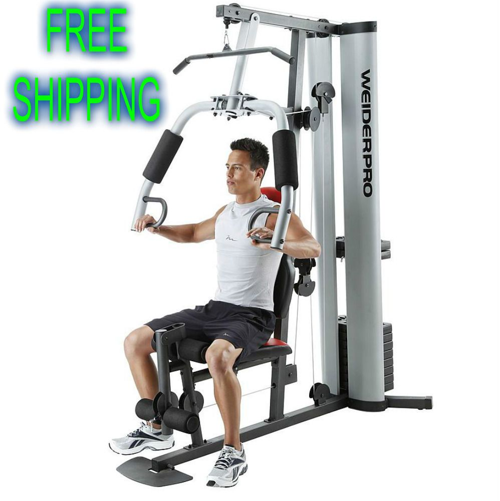 Fitness weighted station full body workout home gym