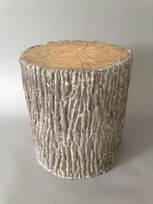 Faux bois garden stool faux bois concrete dining table