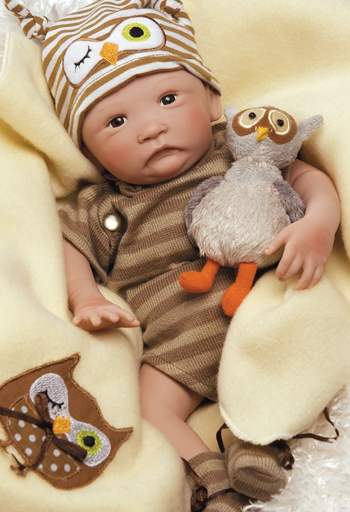 "Hoot! Hoot! 15"" Preemie Doll Baby dolls, Boy baby doll"