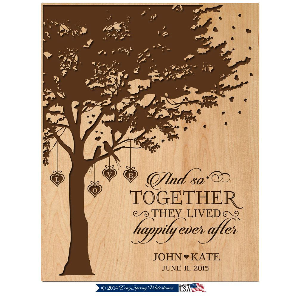 Ideas For Wedding Anniversary Gifts For Wife: Personalized Wedding Gift,50th Anniversary Gift For