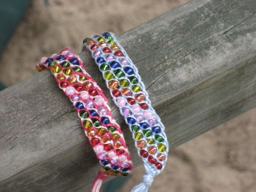 Embroidery Thread And Beads Friendship Bracelet Jazzy