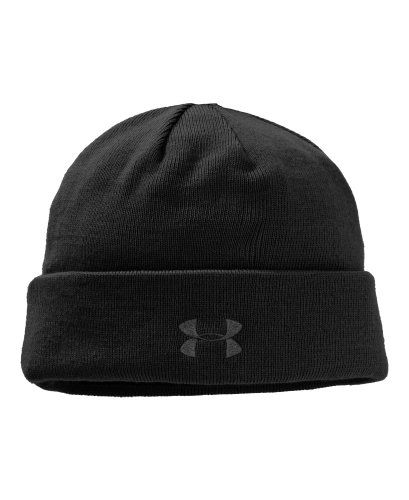 c0796450ed853 New Under Armour Coldgear Tactical Stealth Beanie Black Toboggan 1219736
