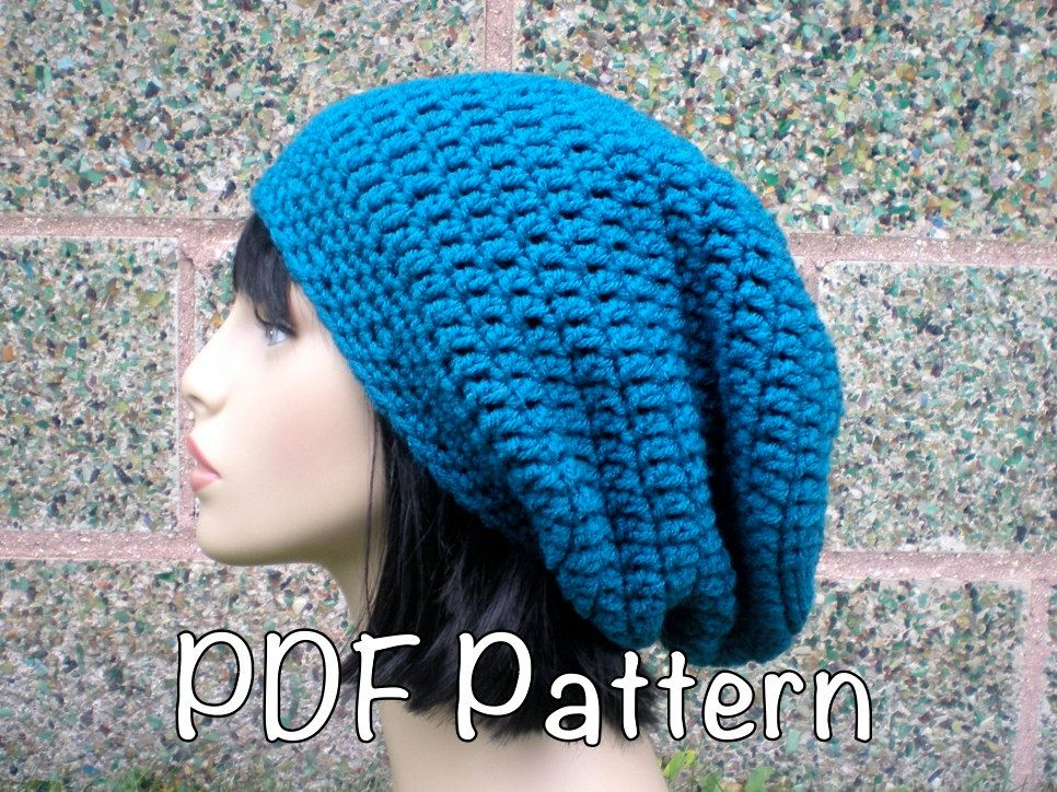 PATTERN: Autumn Slouch- Unisex slouchy beanie hat P D F, easy ...