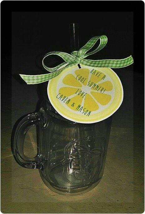 End of year teacher gift, have a cool summer, mason jar ...