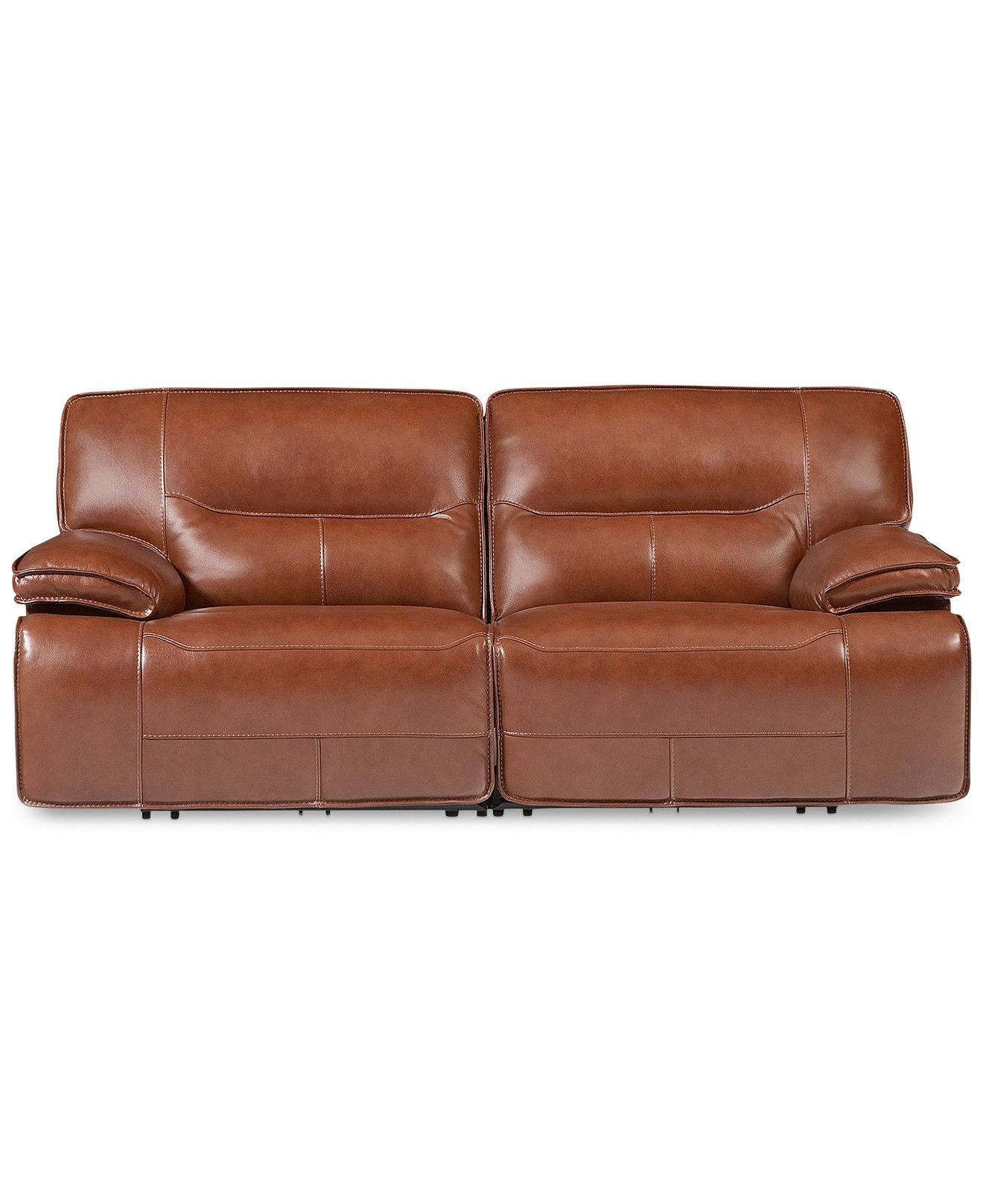 Beckett 2 pc Leather Sectional Sofa with 2 Power Recliners