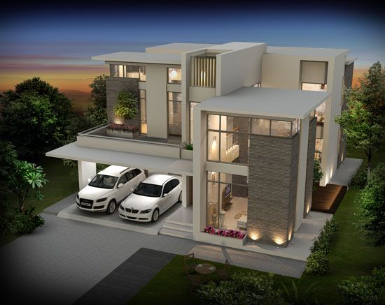 Seiken contemporary designed luxury villas at calicut for Casa moderna tunisie