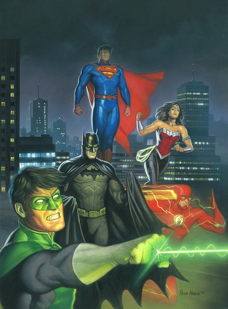 JLA New 52 Painted by Habjan81