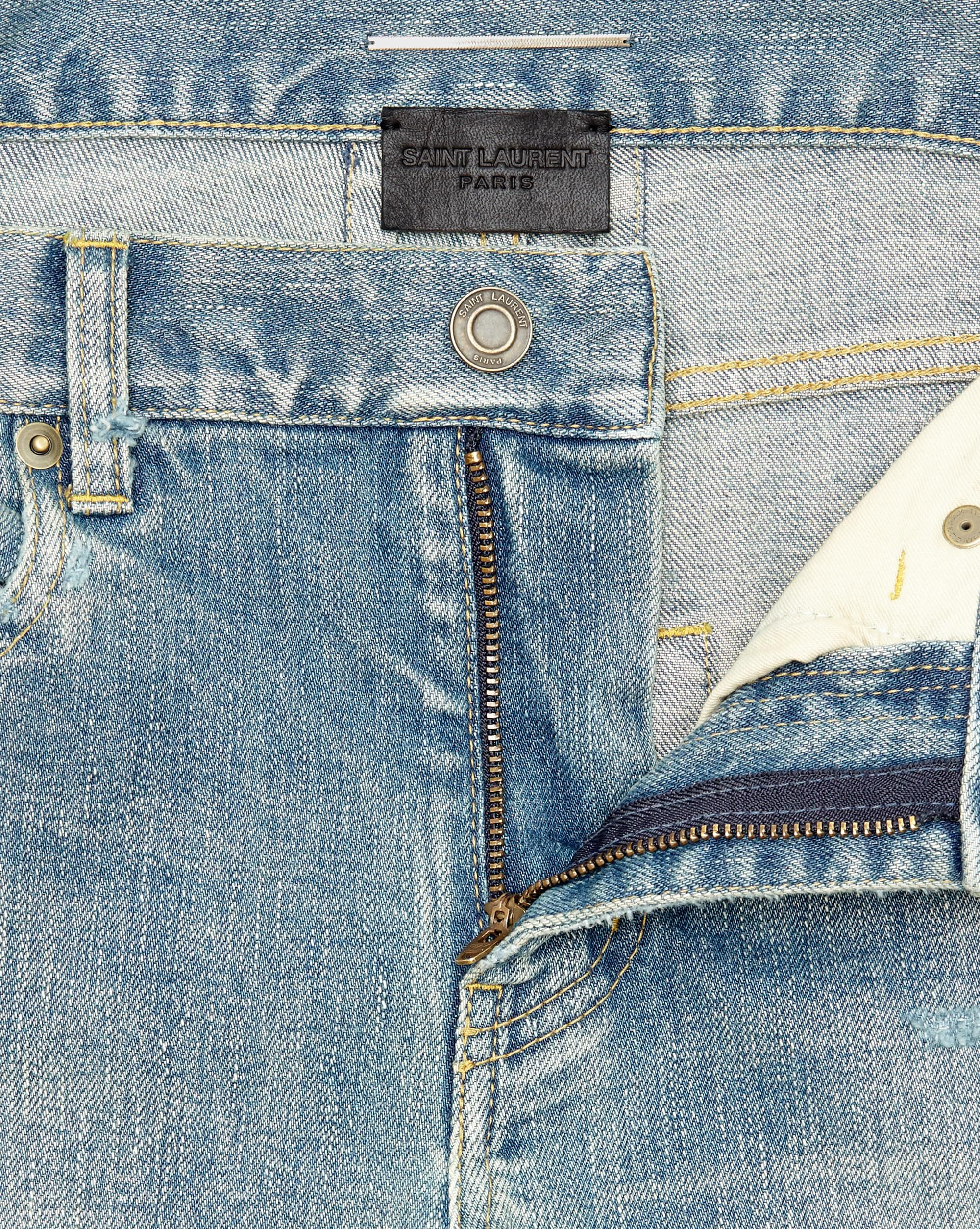 fded9956fb Saint Laurent ORIGINAL Low WAISTED Destroyed SKINNY JEAN IN Dirty ...