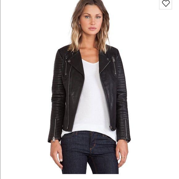 ANINE BING • Classic Leather jacket black Gorgeous Black