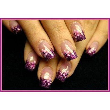Violet nails