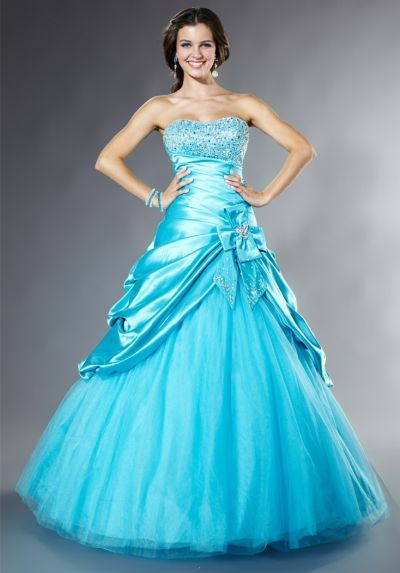 85cd28edc1d Another image of Tiffany Designs Presentation Satin Pickup Ball Gown Prom  Dress 16845