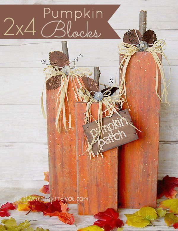 2x4 Pumpkin Home Decor - creativemeinspiredyou Homemade and Woods - halloween club decorations