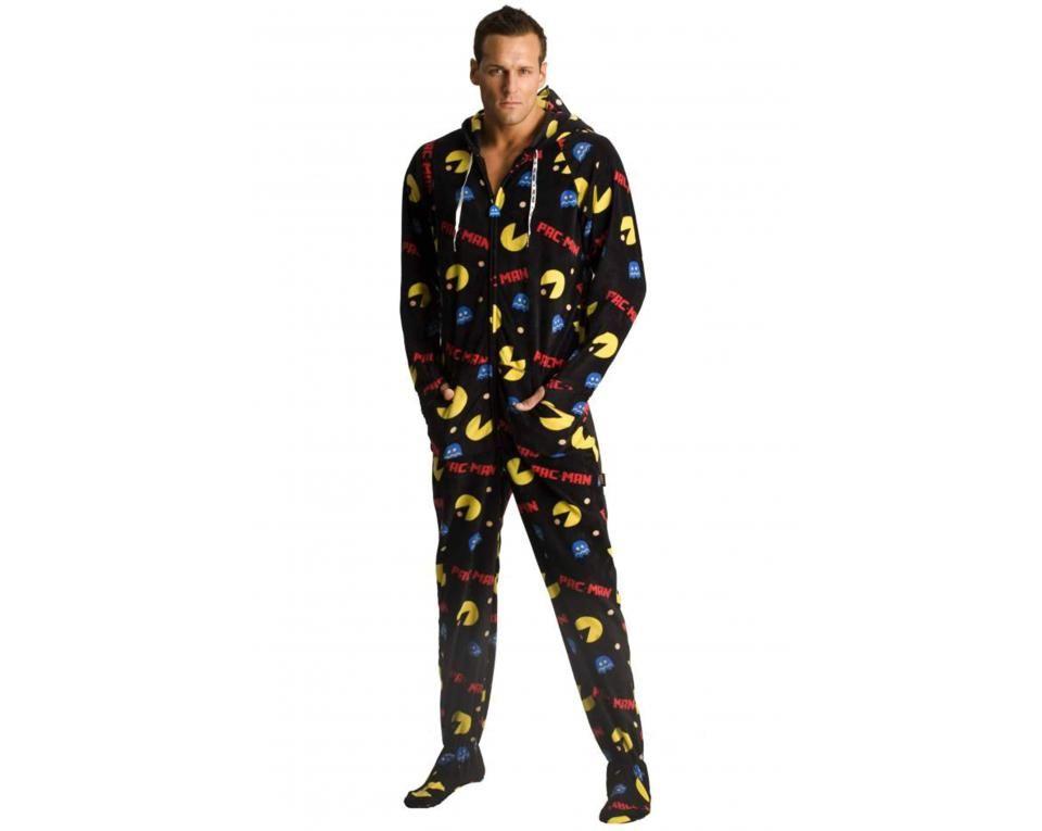 8ef7aafbbd Pac-Man Hooded Footie Pajamas - Adult onesie