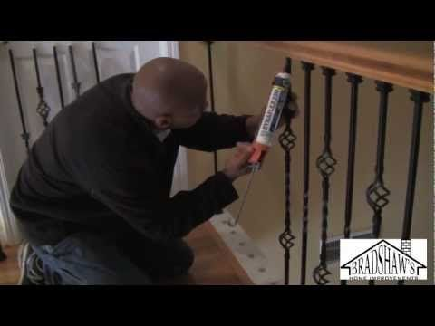 Stair Spindle Installation In Place Of Out Dated Stair Posts   Good  Tutorial, Seems Easy Enough.