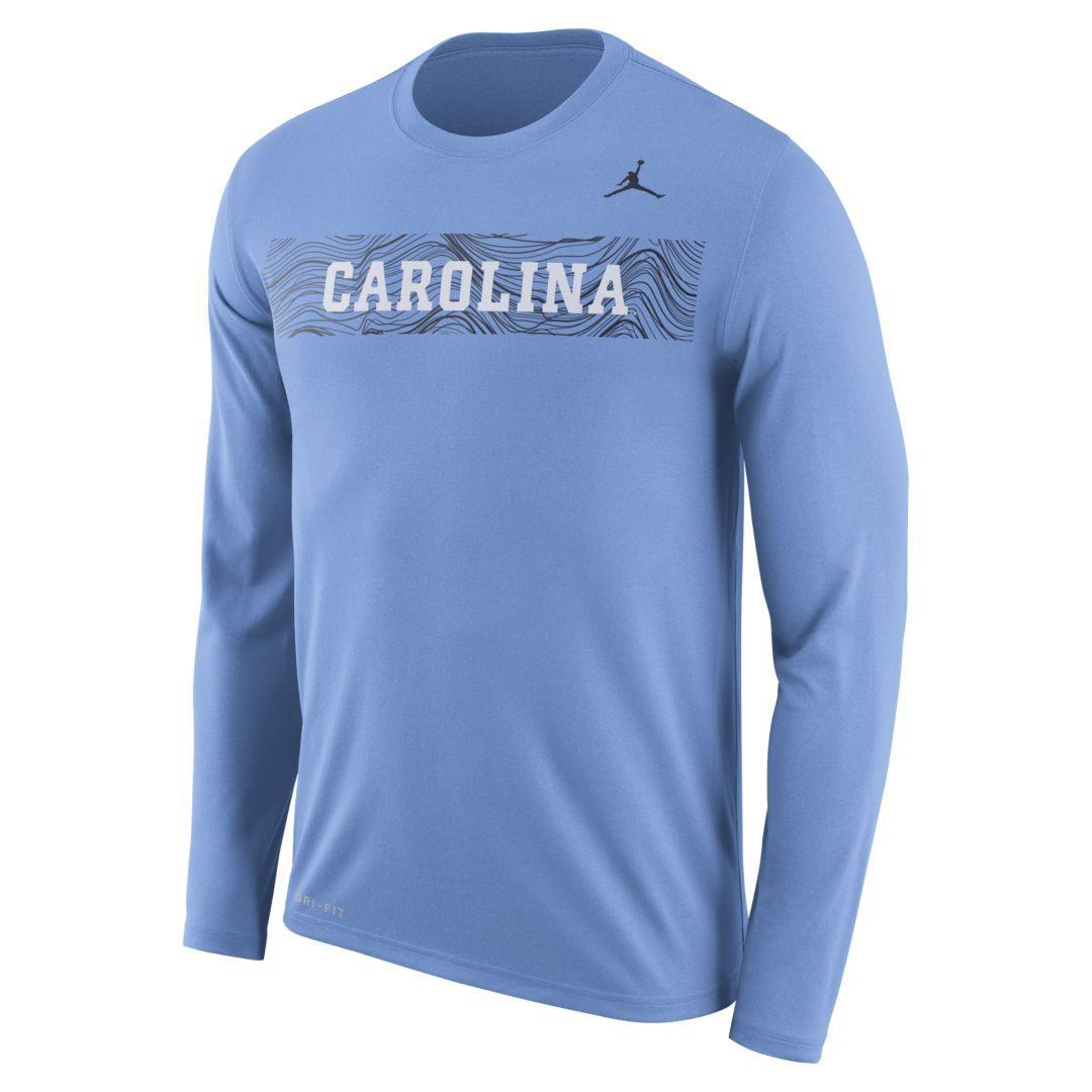 7fd17bba7dea Nike College Dri-FIT Legend Sideline (North Carolina) Men s Long-Sleeve T- Shirt Size XL (Light Blue)