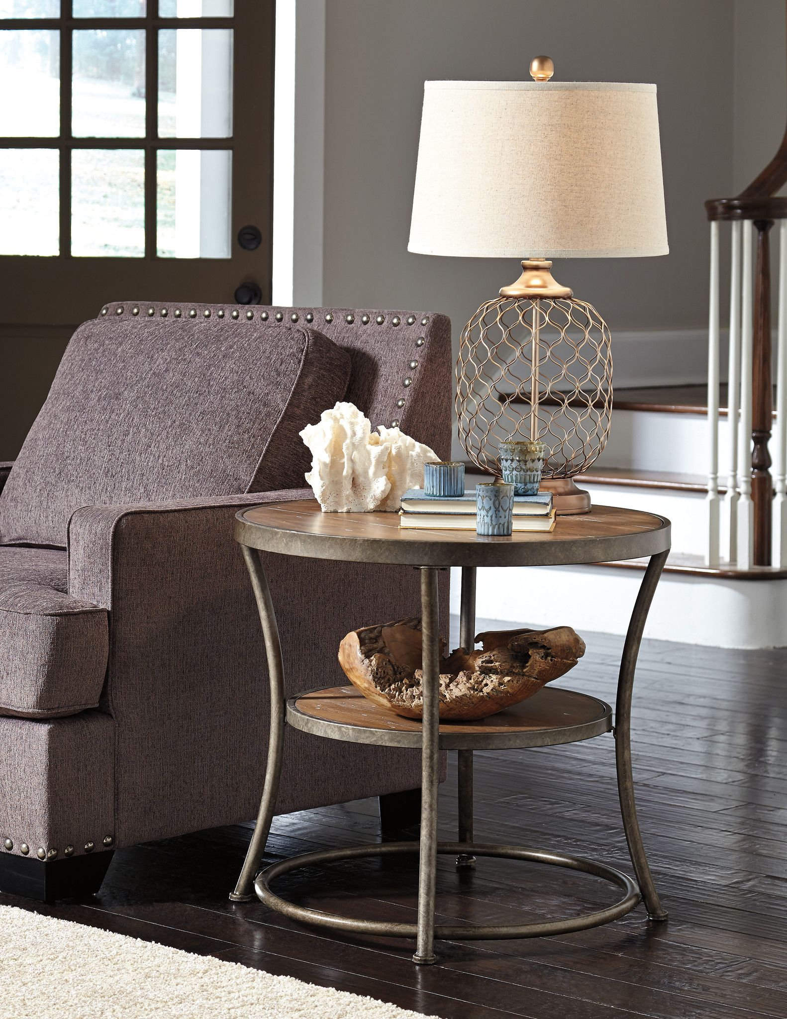 Nartina Round End Table in 2019 Danville House