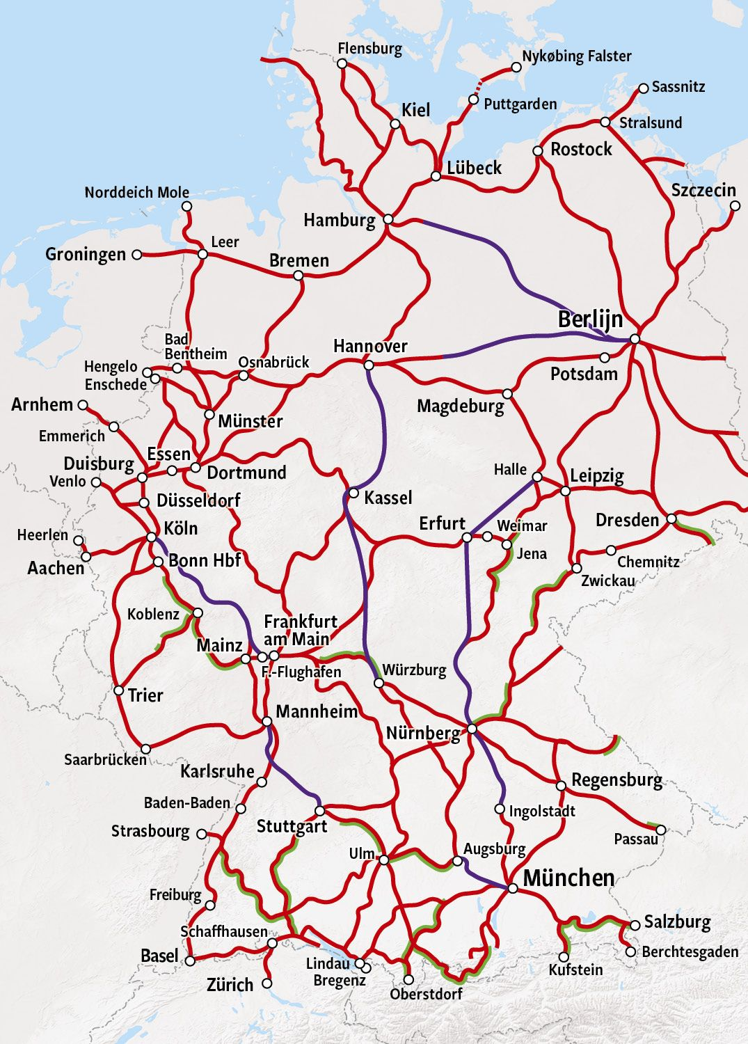 Rail Map Germany Trains In Germany Happyrail Train Map Germany Europe Train
