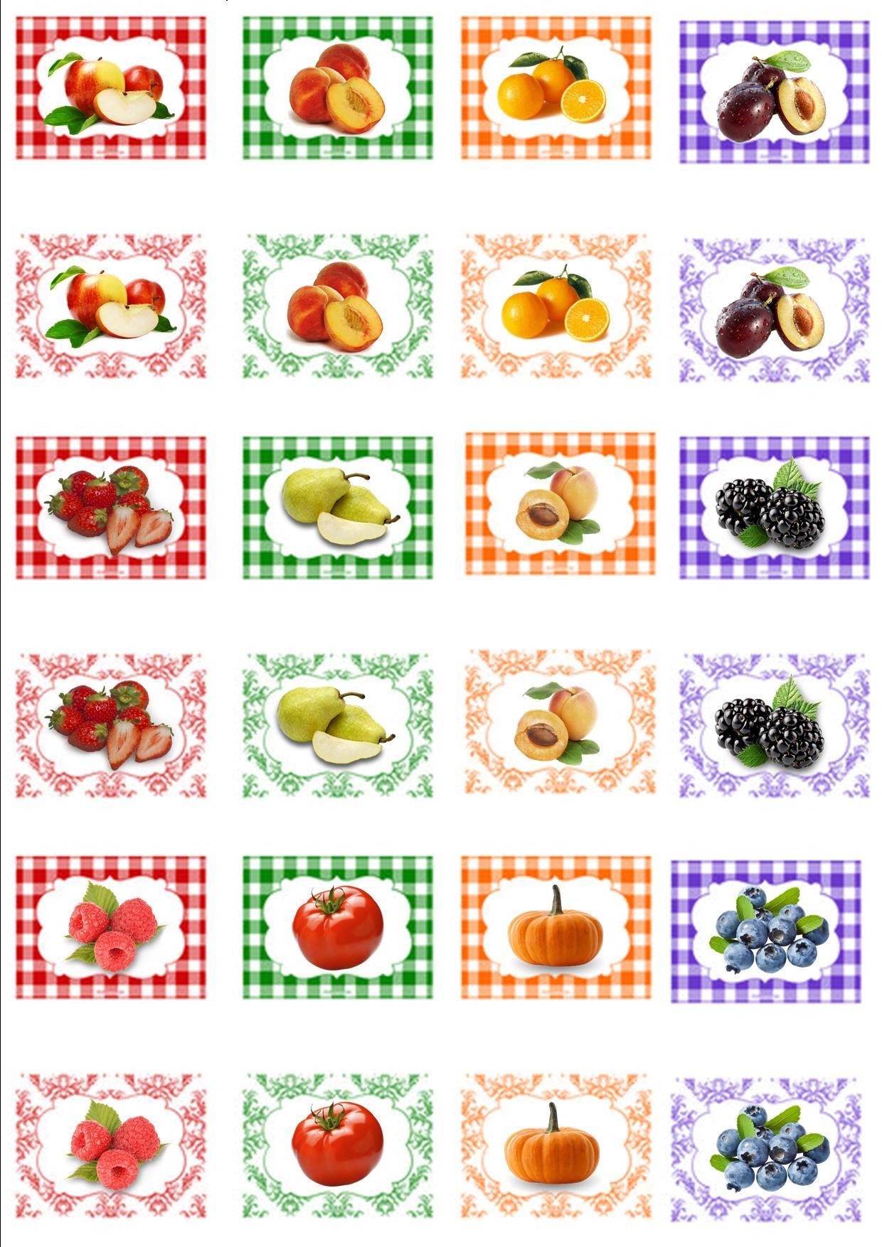Design My Kitchen Online Free Etichette Labels Per Marmellate Dollhouses Printables