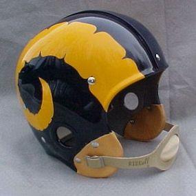 The Los Angeles Rams Bone Style Helmets Football Helmets Rams Football Vintage Football
