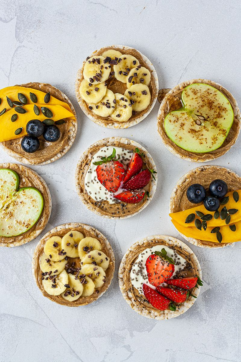 Photo of Almond Butter Rice Cakes 4 Ways