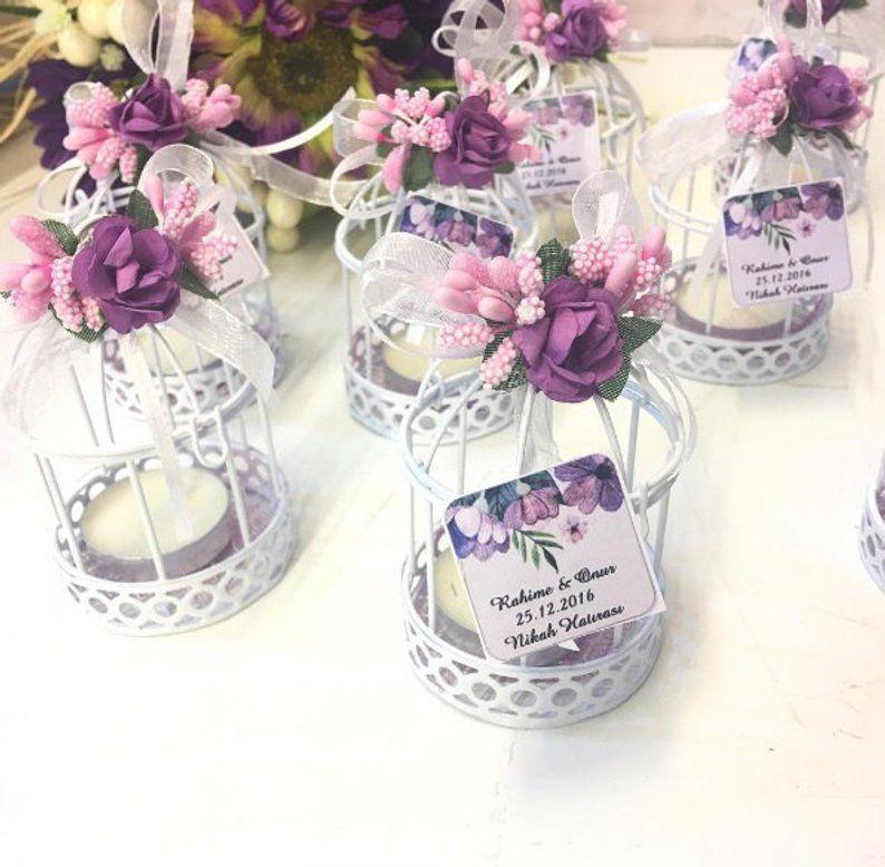 Candle Holder Wedding Favor Box White Birdcage Birdcage Baby