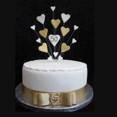Ideas Para Celebrar Bodas Oro Buscar Con Google 50th Wedding Anniversary Cakes Golden Wedding Anniversary Cake Golden Wedding Cake