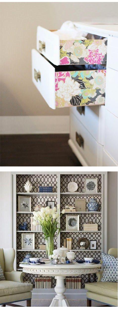 papel-pintado-muebles-decoracion-low-cost | Decor | Pinterest ...