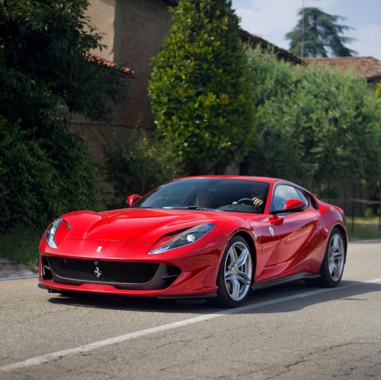 Ferrari 812 Superfast Painted In Rosso Settantanni Photo Taken By