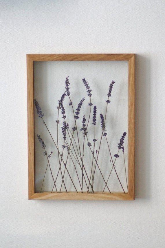 Lavendel Sorte Rahmen aus gepressten Blumen von MyBotanica #blumen #gepressten #…