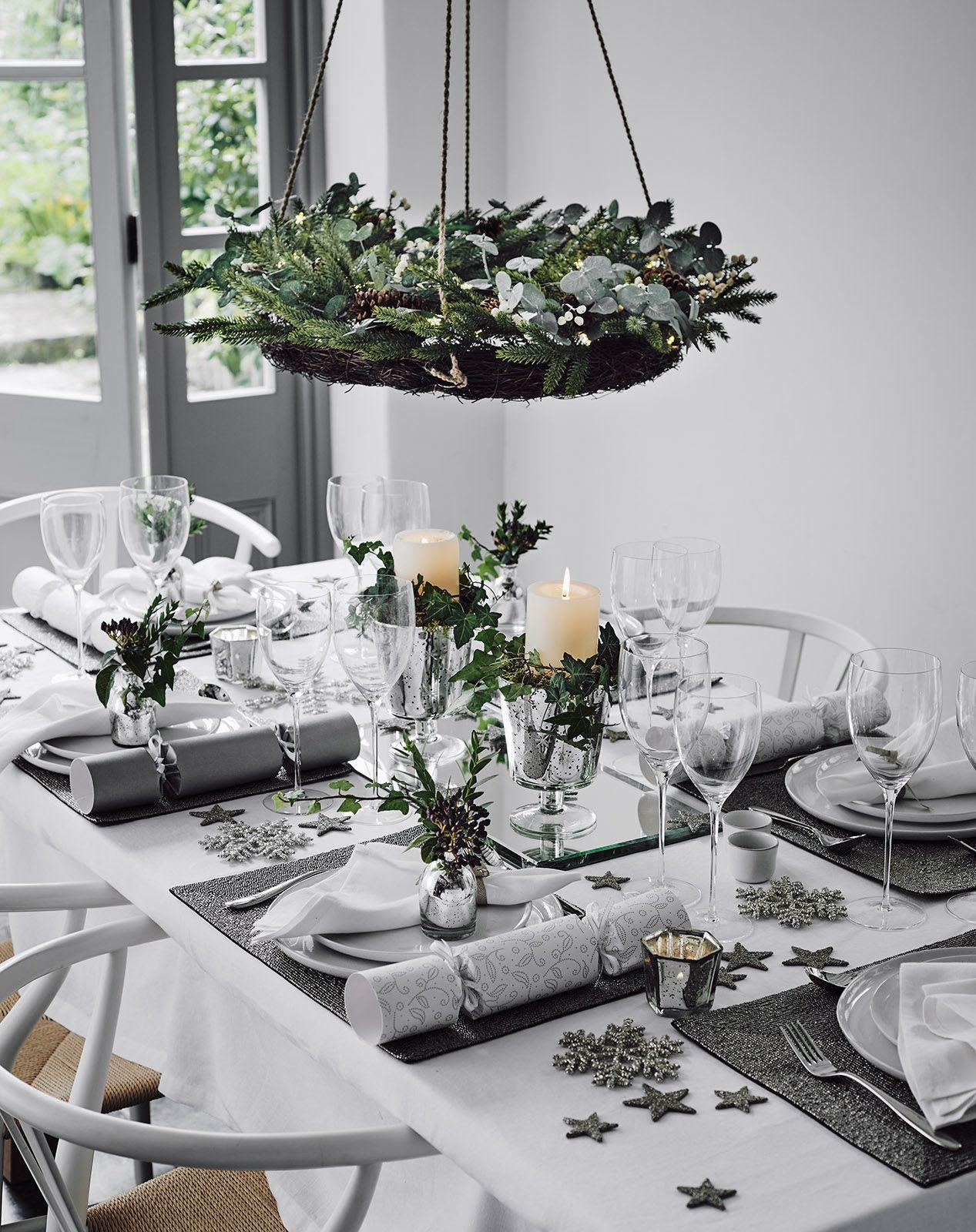 Michael Sinclair The White Company Christmas Interiors Christmas Table Christmas Dinner Table