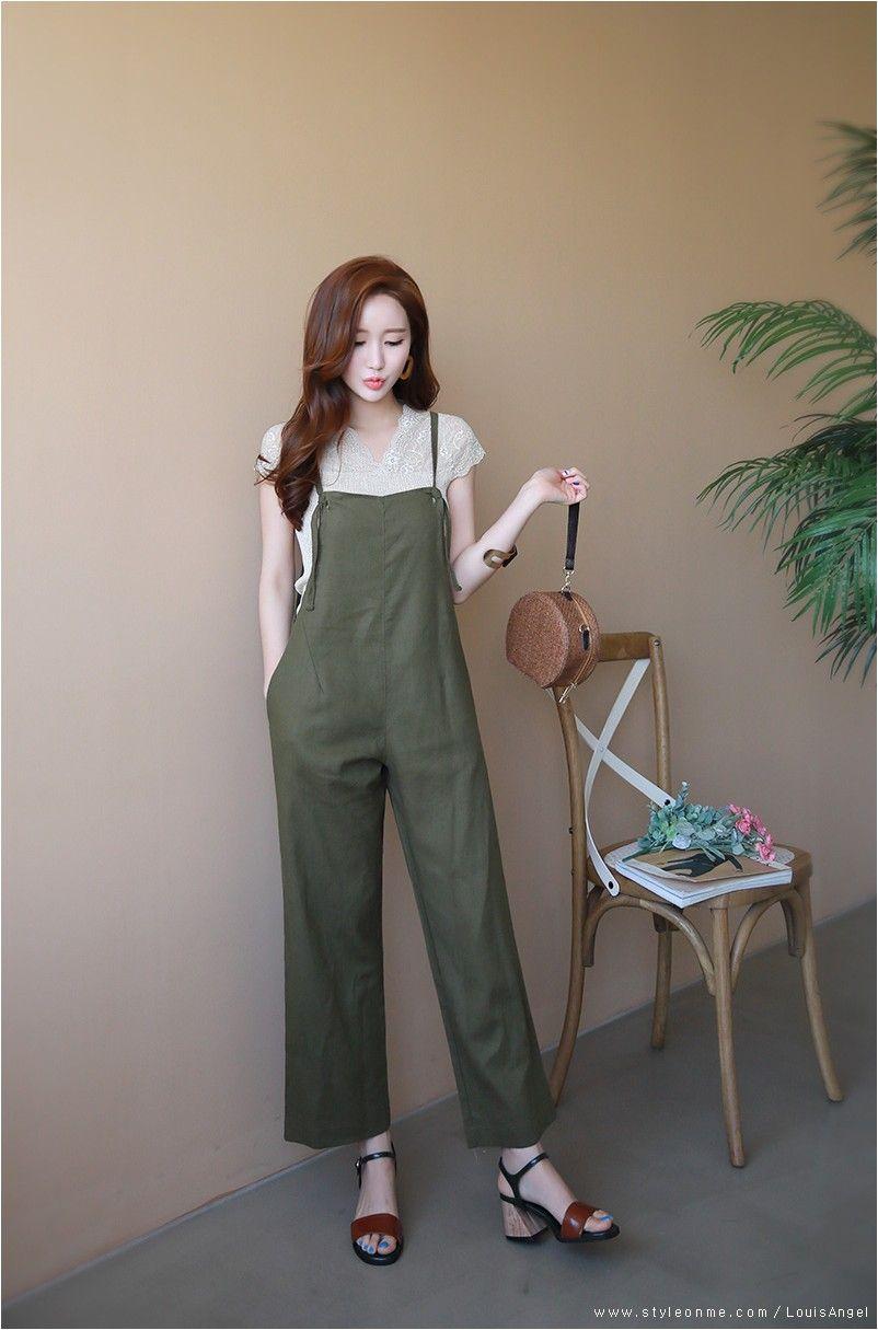 Linen jumpsuit  Korean fashion, Jumpsuit fashion, Fashion