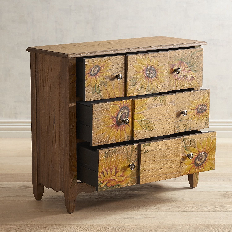 Ava Hand Painted Sunflower Cabinet Sunflower Room Furniture Restoration