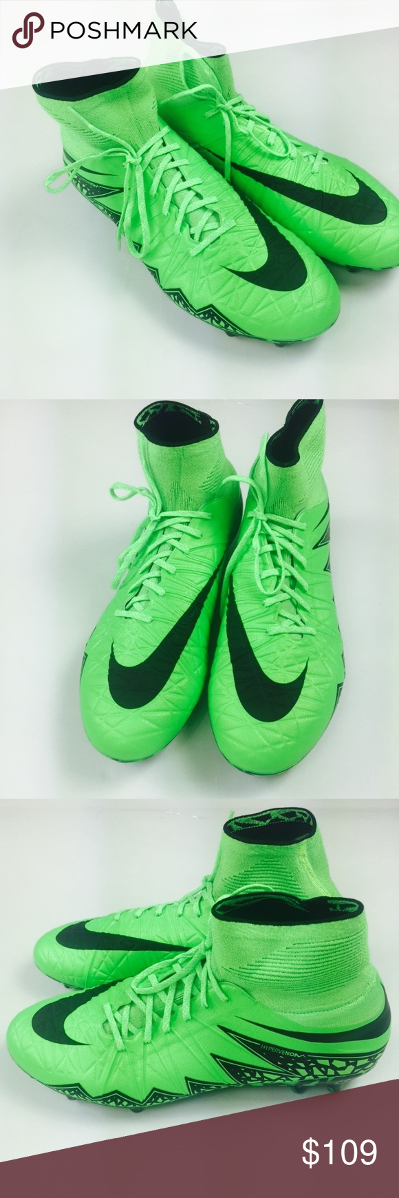 51aa9e6a0c8 Nike Hypervenom Phantom II FG Green Soccer Cleats Nike Hypervenom Phantom II  FG Men Green Strike