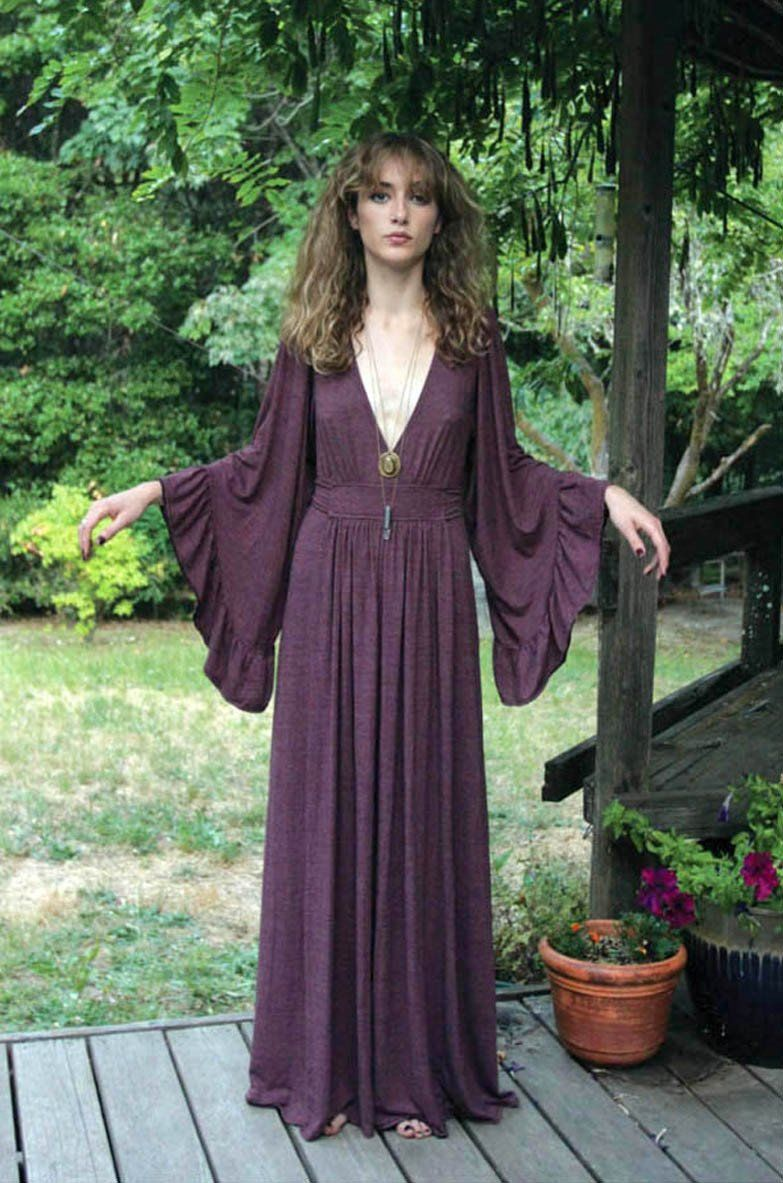 Mulled wine bell sleeve maxi closet of desires in pinterest
