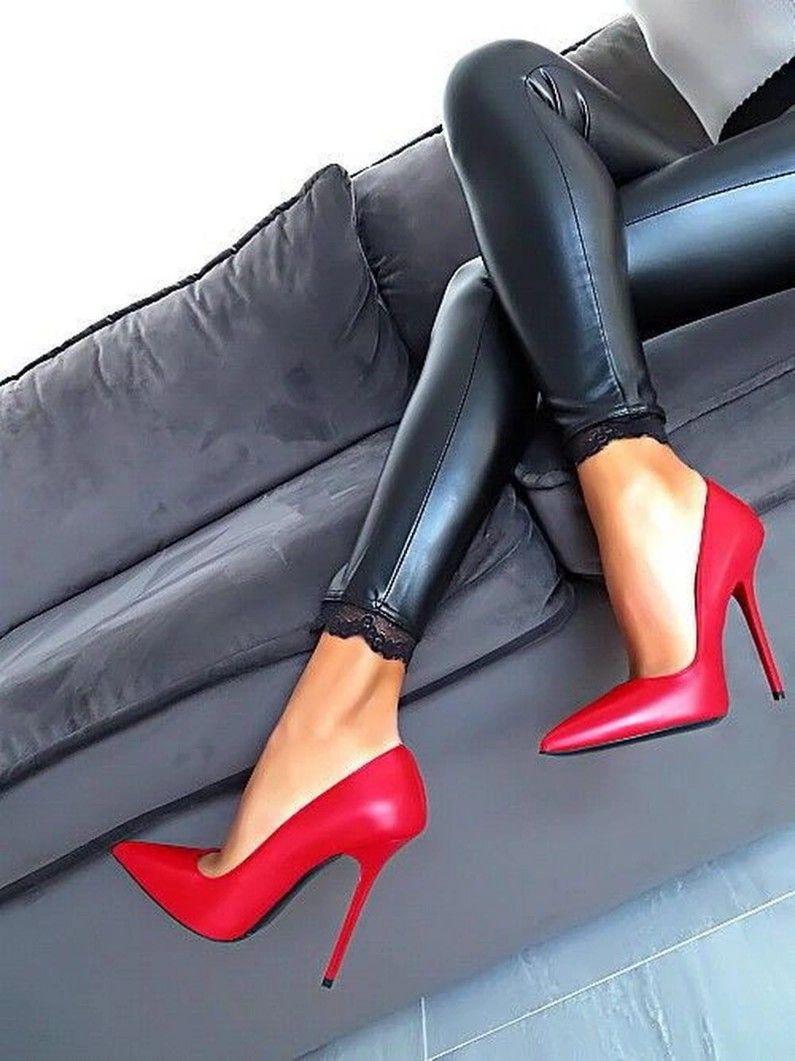 boot-heel-sexy-stilettos-naked-brunette-cheerleaders