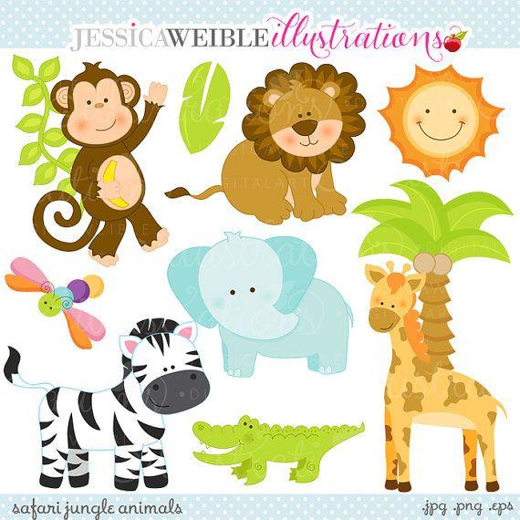 Sale Safari Jungle Animals Cute Digital Clipart Commercial Use Ok Safari Animal Clipart Safari Animal Graphics Safari Clip Art Cute Animal Clipart Jungle Animals Animal Clipart
