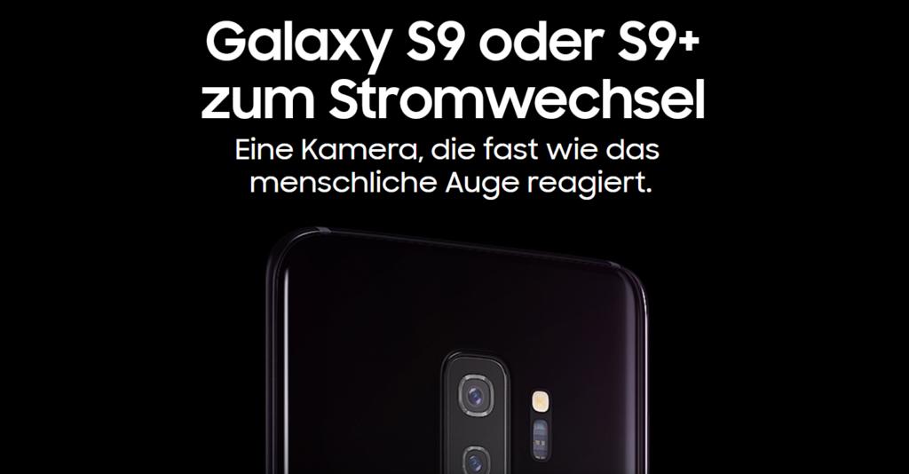 Stromwechsel Prämie Samsung S9