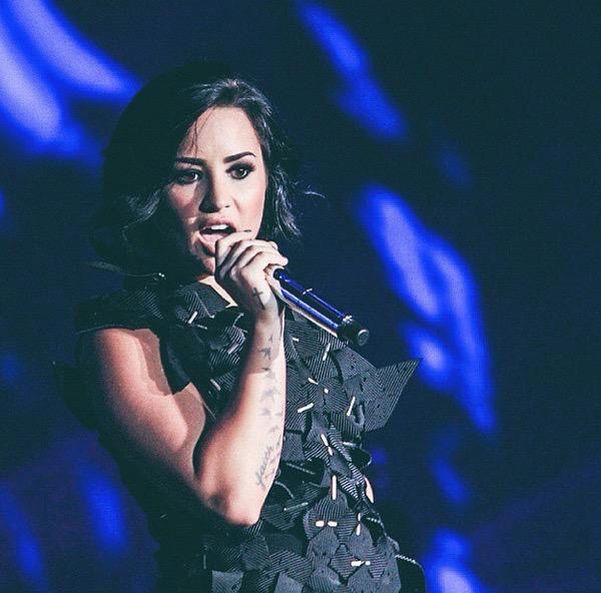 Demi Lovato on stage at the Indonesian Choice Awards 2015 - May 24th