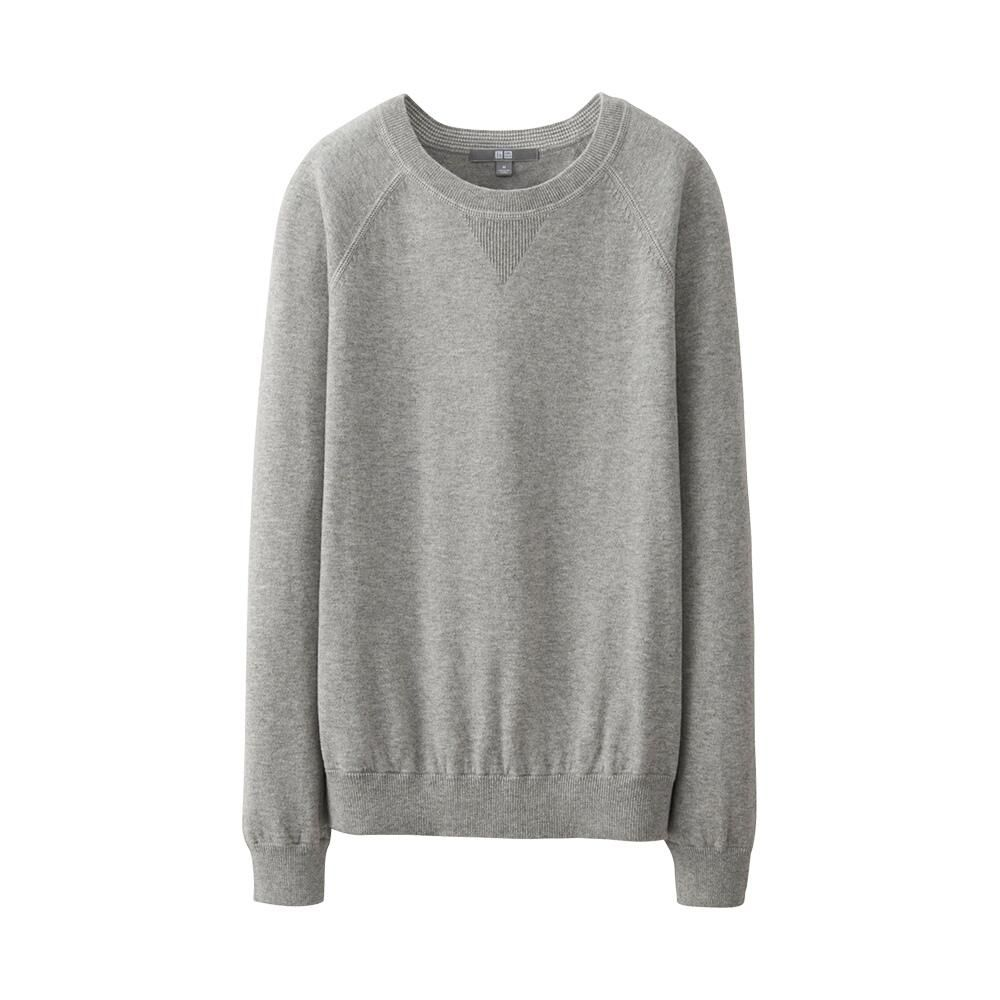 WOMEN Cotton Cashmere Crew Neck Raglan Sweater | Fashion ...