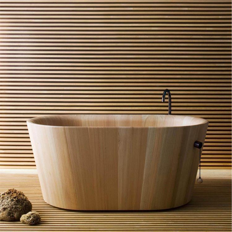 Ofuro Designer Badewanne aus Holz von Matteo Thun