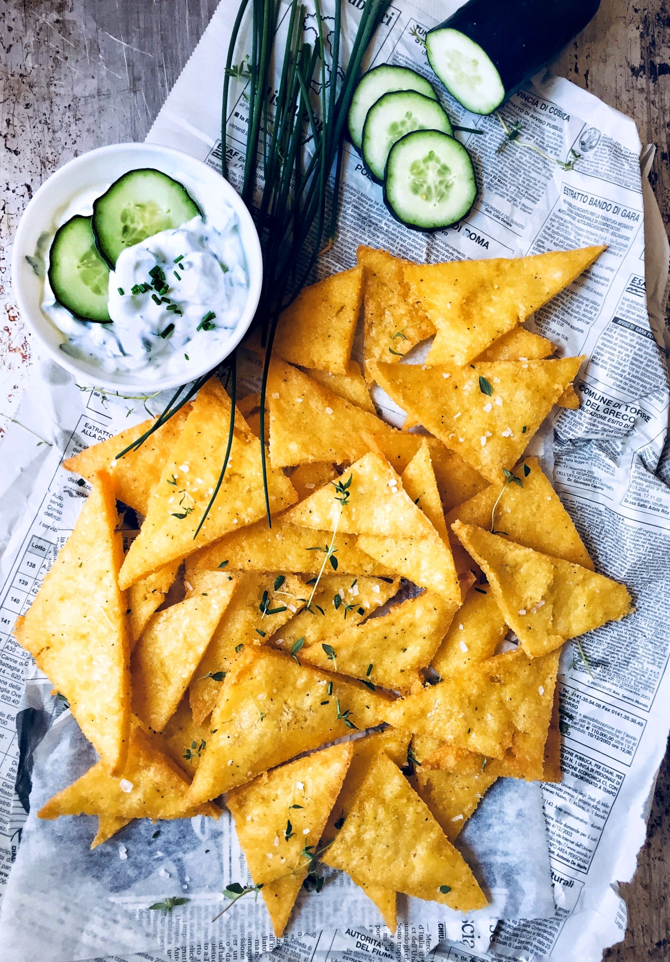Fried Polenta With Tzatziki Sauce #Recipe