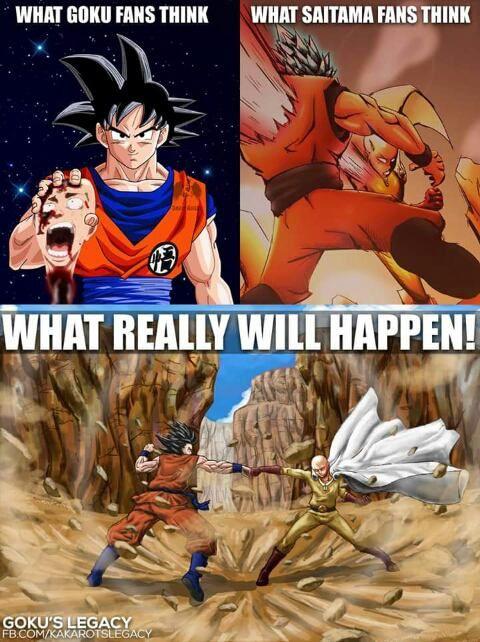 No, Saitama is SOOOOOOOOOOOOOOOOOOOOOOOOOOOOOOOOOOOOOOOOOOOOOOOOOOOOOOOOOOOOOOOOOOOOOOOOOOOOOOOOOOOOOOOOOOOOOOOOOOOOOOOOOOOOOOOOOOO much stronger than Goku