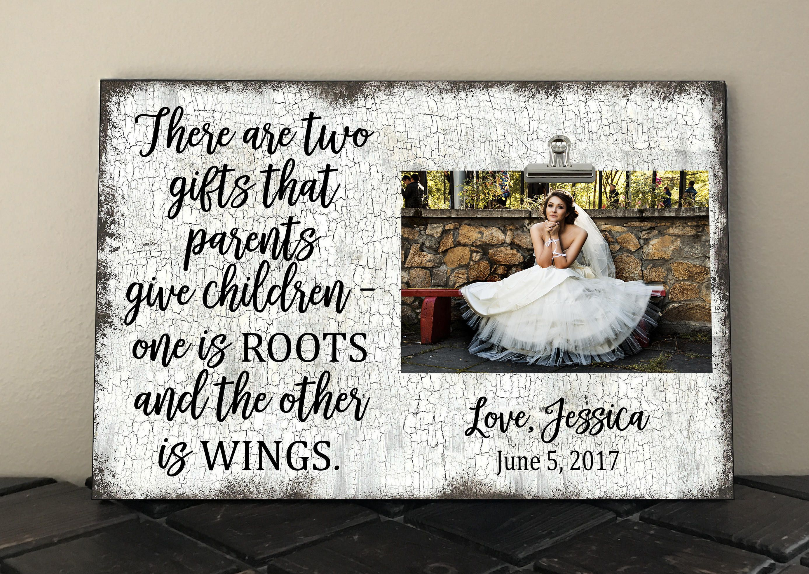 Free personalization parents of bride or groom gift