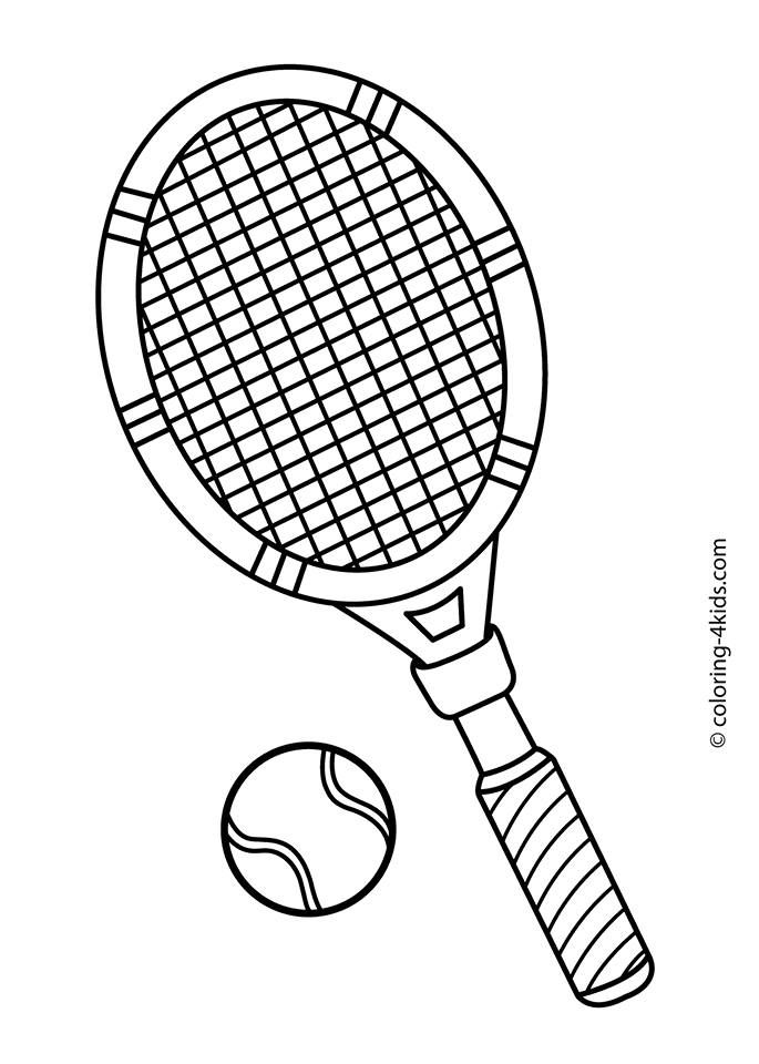 Team Tennis Sports Coloring Pages Coloring Pages For Kids