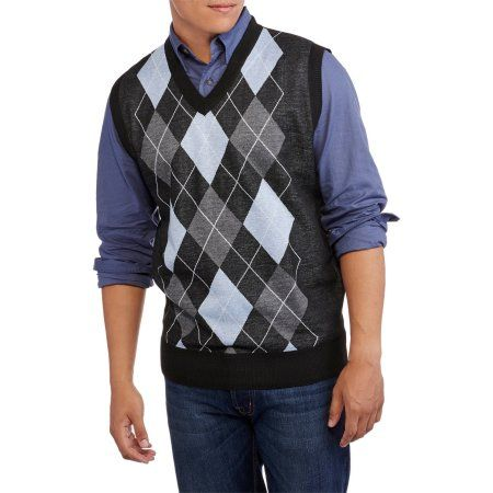 Ten West Big Men's V-Neck Argyle Sweater Vest, Size: 2XL | Argyle ...
