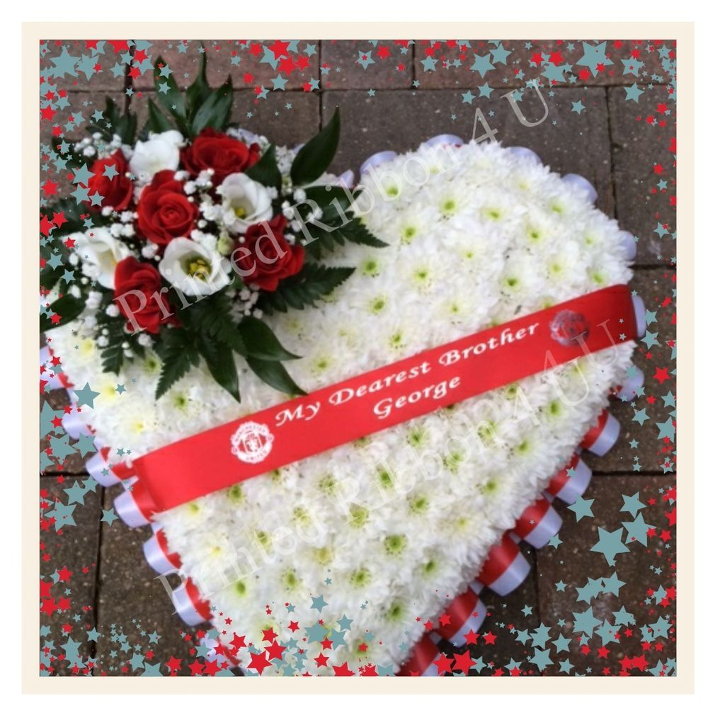 Personalised funeral wreath ribbon floral memorial flower ribbon only izmirmasajfo Choice Image