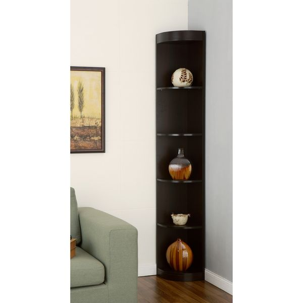 Furniture Of America Corner 5 Shelf Display Stand